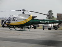 N813CE @ ONT - Parked to the rear of the Edison Office at Ont - by Helicopterfriend