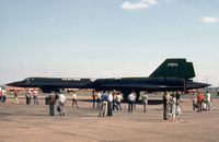 61-7974 @ MHZ - SR-71A Blackbird of RAF Mildenhall's Det 4 of the 9th Strategic Reconnaissance Wing on display at the 1982 Mildenhall Air Fete. - by Peter Nicholson