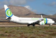 F-GZHE @ GCRR - Tranavia France B737 at Arrecife , Lanzarote in March 2010 - by Terry Fletcher