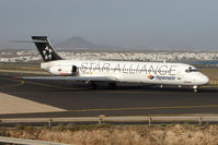 EC-KCZ @ GCRR - Spanair MD-87 in Star Alliance colours at Arrecife , Lanzarote in March 2010