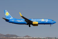 D-AHFZ @ GCRR - TUI Fly's colouful B737 at Arrecife , Lanzarote in March 2010