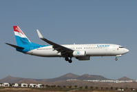 LX-LGT @ GCRR - Luxair B737 at Arrecife , Lanzarote in March 2010