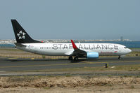 OE-LNT @ GCRR - Austrian Airlines B737 in Star Alliance colours at Arrecife , Lanzarote in March 2010