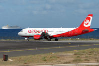 HB-IOP @ GCRR - Air Berlin's Swiss registered Airbus at Arrecife , Lanzarote in March 2010