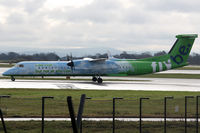 G-JEDP @ EGCC - flybe De Havilland Canada DHC-8-402Q - by Peter Baireder