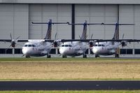 D-BSSS @ EDDR - several Contact Air ATR42-500 stored at EDDR