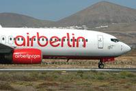 D-ABBE @ GCRR - Air Berlin B737 at Arrecife , Lanzarote in March 2010