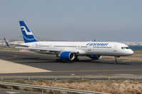 OH-LBV @ GCRR - Finnair wingletted B757 at Arrecife , Lanzarote in March 2010