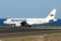 EC-JNC @ GCRR - Spanair A320 at Arrecife , Lanzarote in March 2010