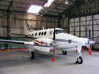 M-GLAS @ EGNH - Beech C90 King Air, ex N59GG - by Chris Hall