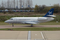 OY-CKN @ EGGW - Danish Falcon 2000 uses 'Mermaid' callsign - by Terry Fletcher