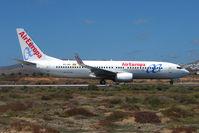 EC-JNF @ GCRR - Air Europa B737 at Arrecife , Lanzarote in March 2010