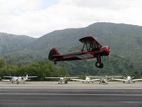 N59031 @ SZP - 1941 Boeing Stearman A75N1, Continental W670 220 Hp, takeoff climb Rwy 22 - by Doug Robertson