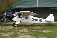 G-BLMT @ EGTN - Owner of this 1953 Piper PIPER PA-18-135 gives his aircraft plenty of TLC