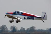 G-BWMB - 1956 Societe Wassmer JODEL D119 takes off at Hinton