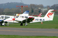 PH-MLN @ EGBW - New Piper PA-44-180 , in Martinair colours , at Wellesbourne