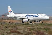 EC-IVG @ GCRR - Spanair A320 at Arrecife , Lanzarote in March 2010