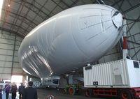 N605SK @ EDNY - Airship Industries Skyship 600 undergoing maintenance inside the Zeppelin-hangar at Friedrichshafen airport - by Ingo Warnecke