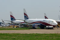 5N-MJB @ EGMC - Three Arik Air B737's at Southend - 5N-MJB , MJD and MJJ - by Terry Fletcher
