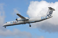 G-ECOV @ EGNT - De Havilland Canada DHC-8-402Q Dash 8 on approach to 25 at Newcastle Airport in 2009. - by Malcolm Clarke