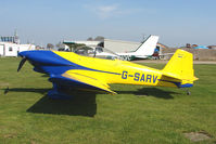 G-SARV @ EGCL - at Fenland on a fine Spring day for the 2010 Vintage Aircraft Club Daffodil Fly-In