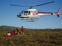 C-FFKK - Geophysic crew drop off in Nunavut via Heli Explore helicopter - by Heli Explore Inc