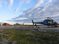 C-FFKK - Two Heli Explore aircraft on stanby at Boston camp Nunavut - by Heli Explore Inc