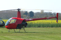 G-OBIL @ EGSF - Robinson R22 at Peterborough Conington