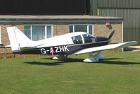 G-AZHK @ EGSP - 1971 Avions Pierre Robin PIERRE ROBIN HR100/200B on a pleasant day at Peterborough Sibson