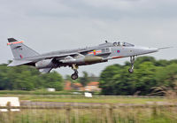 XZ104 @ EGYC - Royal Air Force Jaguar GR3A (c/n S105). Operated by 41 Squadron, coded 'FM'. Coltishall. - by vickersfour