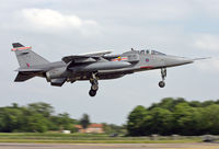 XZ355 @ EGYC - Royal Air Force Jaguar GR3A (c/n S122). Operated by 41 Squadron, coded 'FJ'. Coltishall. - by vickersfour