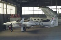 HB-LTV @ LSZR - Diamond DA-42 Twin Star at St.Gallen-Altenrhein airfield
