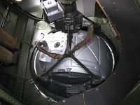 N5017N @ OXR - 1944 Boeing B-17G Flying Fortress 'Aluminum Overcast', ventral guns Sperry electric ball turret-from aircraft interior looking downward. - by Doug Robertson