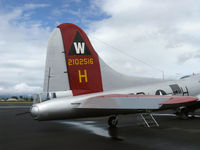 N5017N @ OXR - 1944 Boeing B-17G Flying Fortress 'Aluminum Overcast',  tail guns for tail gunner - by Doug Robertson