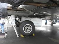 N5017N @ OXR - 1944 Boeing B-17G Flying Fortress 'Aluminum Overcast', main landing gear - by Doug Robertson
