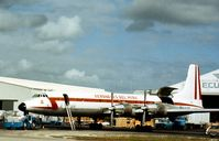 OB-R-1005 @ MIA - CL-44-D6 of Aeronaves Del Peru at Miami in November 1979. - by Peter Nicholson