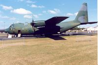 64-0542 @ MHZ - C-130E Hercules of 317th Tactical Airlift Wing based at Pope AFB on display at the 1990 RAF Mildenhall Air Fete. - by Peter Nicholson
