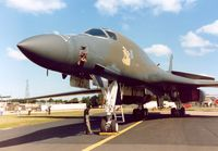 86-0114 @ MHZ - B-1B Lancer named Wolfhound, callsign Norse 10, of the 319th Bombardment Wing on display at the 1990 RAF Mildenhall Air Fete. - by Peter Nicholson