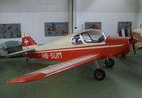 HB-SUM @ LSZR - CAB (Constructions Aeronautiques De Bearn) GY.201 Minicab at the Fliegermuseum Altenrhein