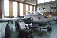 HB-RVE @ LSZR - DeHavilland D.H.100 Vampire FB6 ex-Flugwaffe at the Fliegermuseum Altenrhein