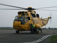 ZH541 @ EGFH - Thirsty Sea King. Coded V and operated by A Flight of 22 Squadron RAF - by Roger Winser