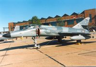 19 @ MHZ - Super Etendard of French Aeronavale's 14 Flotille on display at the 1990 RAF Mildenhall Air Fete. - by Peter Nicholson