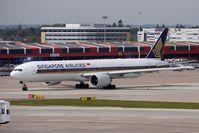 9V-SWS @ EGCC - Singapore Airlines B777-300ER at Manchester