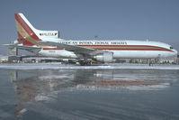N102CK @ VIE - Kalitta Lockheed Tristar  - reflection