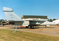 66-0056 @ MHZ - EF-111A Raven of 42nd Electronic Combat Squadron/66th Electronic Combat Wing on display at the 1990 RAF Mildenhall Air Fete. - by Peter Nicholson