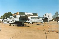 68-15953 @ MHZ - OV-1D Mohawk of Wiesbaden's 1st Military Intelligence Battalion on display at the 1990 RAF Mildenhall Air Fete. - by Peter Nicholson