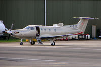 M-SAIL @ EGBJ - Isle of Man registered Pilatus PC-12 at Gloucestershire Airport