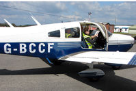 G-BCCF @ EGBO - Planning the way home from Wolverhampton on 2010 Wings and Wheels Day
