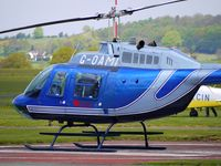 G-OAMI @ EGBO - Bell 206B giving pleasure rides at Wolverhampton on 2010 Wings and Wheels Day