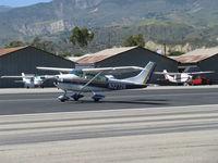 N3272S @ SZP - 1964 Cessna 182G SKYLANE, Continental O-470-S 230 Hp, takeooff roll Rwy 22 - by Doug Robertson